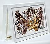 Cuadroexpres - Cubre Contador Moderno en Marrón y Plata 22x37 cm (Interior) Caja Decorativa para el Cuadro de Luces. En Melamina Blanca. Fácil de Colocar.