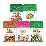 Nutraj Signature Daily Needs Dry Fruits Combo Pack 1 Kg (Almonds Plain 200g, California Walnuts 200g, R&S Pistachios 200g, Plain...