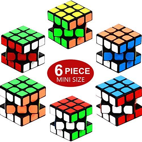 Nunki Toy Party Puzzle Spielzeug, 6 Pack Mini Würfel Set Party Favors Cube Puzzle, 1.18 Inch Puzzle Magic Cube umweltfreundliche Safe Material mit lebendigen Farben