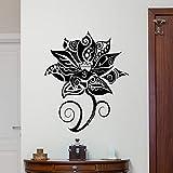 wZUN Lotus Pared calcomanía Yoga Estudio decoración Vinilo Pared Pegatina Dormitorio Principal cabecera decoración de Fondo 50X40cm
