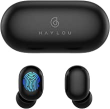 True Wireless Earbuds,Haylou GT1 Bluetooth 5.0 Sports HD Stereo Touch Control Ear Buds with IPX5 Waterproof/Fast Connection/Mini Case(Only 30g)/Total 12H Playtime (Black)