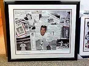 Joe Dimaggio & Robert Stephen Simon Autographed Signed Lithograph Ny New York Yankees JSA - Authentic Memorabilia