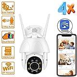 2 MP Yoosee WiFi Caméra IP Audio Haute Vitesse PTZ Caméra Dôme de Sécurité avec Surveillance P2P Automatique Cloud CCTV sans Fil Camara avec Fente SD, Support Maximum 128 Go