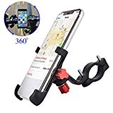 ENONEO Support Telephone Moto Universel Support Télephone Velo 360° Rotation Aluminium Anti-Fall Support Smartphone VTT Moto pour iPhone Samsung Huawei (Largeur 2.16-3.74 Pouces) (Noir)