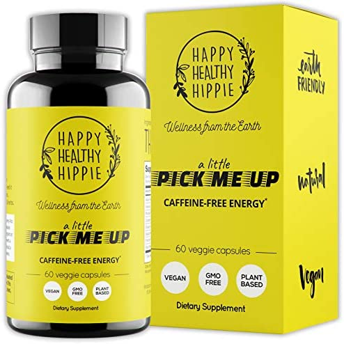 Natural Energy Supplement Happy Healthy Hippie Plant Based Caffeine Free Energy Pills for Metabolism product image