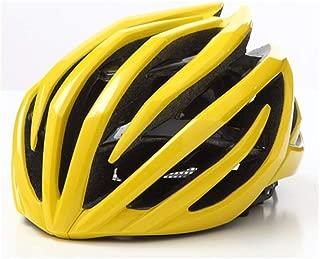 Crystalzhong-sp Mountain Bike One-Piece Riding Helmet One-Piece Helmet Bicycle Helmet Road Helmet Riding Helmet (5 Colors) (Color : Yellow, Size : L)