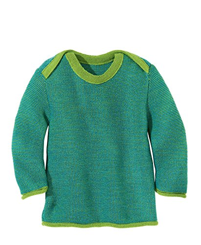 Disana 31309XX - Melange-Pullover Wolle grün, Size / Größe:50/56 (0-3 Monate)
