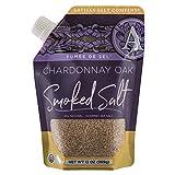 SaltWorks Fume de Sel Chardonnay Oak Smoked Sea Salt, Artisan Pour Spout Pouch, 13 Ounce