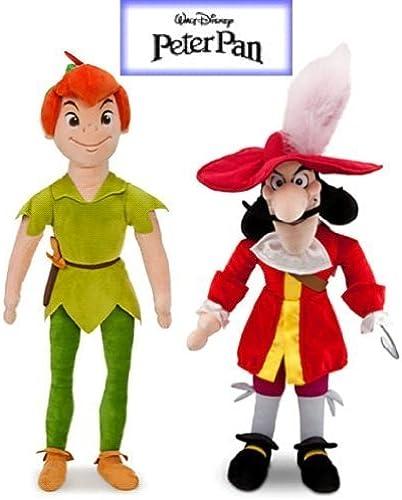 Disney Peter Pan and Captain Hook Plush Doll Set Stuffed Animal Toys by Disney