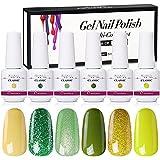 Xnuoyo 6 Colores Gel Uñas Esmaltes de Uñas, Uñas Gel UV LED Juego de Esmalte Uñas Gel, Esmaltes Semipermanentes para Uñas, Juego de Uñas de Bricolaje para Principiantes (03)