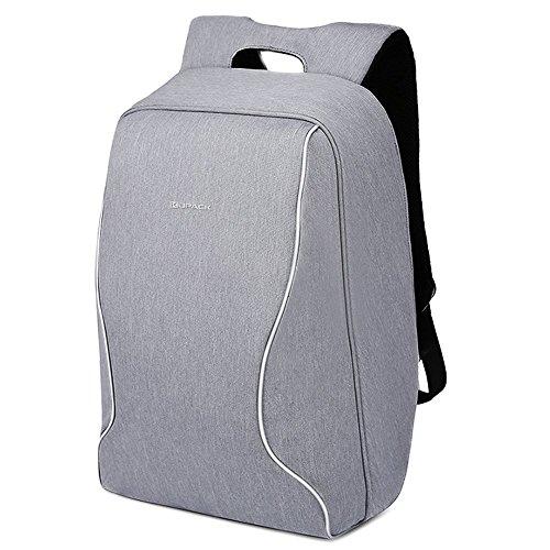 Kopack Antifurto Zaino Laptop Portatile Antiurto Zaino del Computer Leggero scansione intelligenteTSA Amichevole Resistente all'Acqua (14,1 Pollici, Grigio)