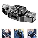 Ulanzi Claw Sistema de placa de liberación rápida en correa y cinturón para cámaras réflex digitales/cámara de acción