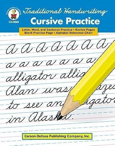 Con 100% de calidad y servicio de% 100. Traditional Handwriting Cursive Cursive Cursive by Carson Educational Products  calidad fantástica