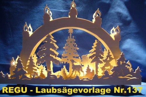 REGU Laubsäge-Vorlage Weihnachten auf der Waldlichtung Nr. 137