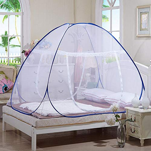 yong 200 180cm Pop-Up Mosquito Nets, Outdoor Mongolian Yurt Dome Net Free Installation and Folding Nets, Portable Folding Mosquito Net Tent Freestand Bed