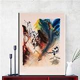 Salvador Dali Firmado litografía de Fotos De la Lona for la Sala de Estar de la decoración del Arte (Color : ZZ1162, Size (Inch) : NO Frame 50X70CM)