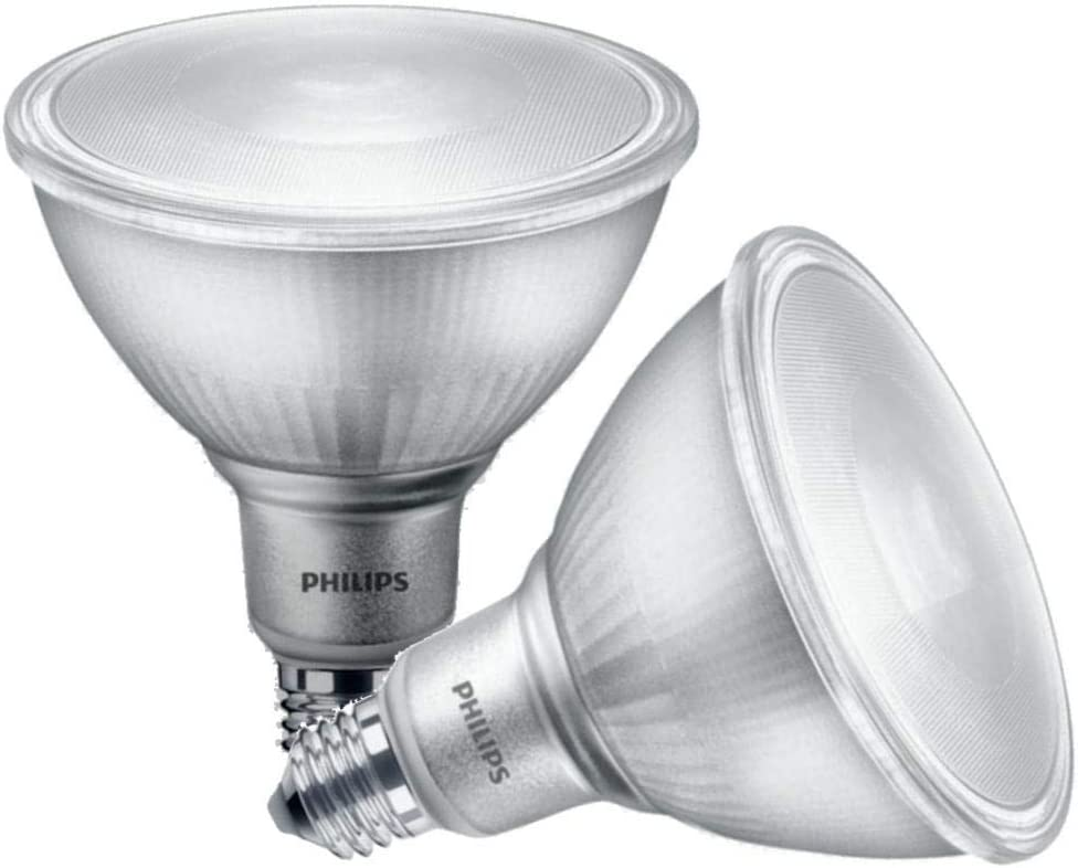 Philips 13 5 Watt 90 Watt Equivalent Par38 Daylight Dimmable 2pack Led Floodlight Bulbs