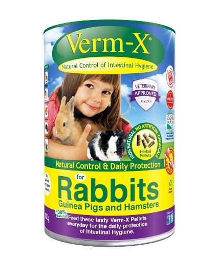 Verm-X – Herbal Nuggets pour Lapins 180 x 180 g Tube