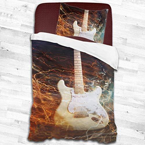 Enhusk Jazz Rock Cool Guitarra eléctrica para niños Fundas nórdicas Funda nórdica...