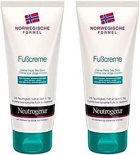 Neutrogena 露得清挪威系列干脚脚部护理护足/保湿霜/24小时滋润/2 x 100毫升
