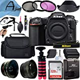 Nikon D500 DSLR Camera Body 20.9MP Sensor with SanDisk 128GB Memory Card, Gadget Bag, Tripod and A-Cell Accessory Bundle (Black)