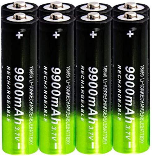 18650 Batería 3.7V 9900mAh Batería Recargable de Iones de Litio Linterna LED y Otros Equipos electrónicos portátiles Batería Sharp-2 Habitaciones