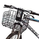 Lixada Folding Bike Basket Quick Release Front Rear Bike Basket Detachable Bicycle Handlebar,Easy Installation Front&Rear Hanging Bike Basket Bicycle Bag Cargo Rack