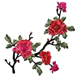 Flores Parches Bordados para Ropa Coser Decoración