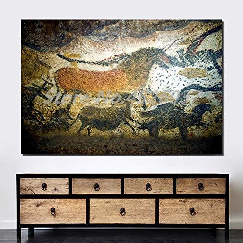 Kingkoil Lascaux Coe Pintura Antiguiente Arte Lienzo Impresiones Imagen Pinturas Modulares Para La Sala De Estar Póster En La Pared Decoración De La Casa 40x60cm Noframed