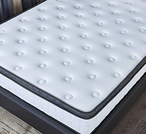 FANKEL 5FT King Size Mattress 10.2 Inch Depth Breathable Memory Foam Mattress with 9-Zone Pocket Springs Support (LTM10 KING 5FT)