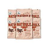 NATRULY Beef Jerky Picante, Carne Seca 100% Vacuno, Sin Gluten, Sin Lactosa, Sin Azúcar, Sin Aditivos Artificiales -Pack 6x25g (Natural Athlete antes)