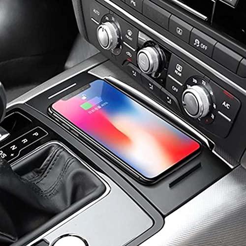 Coche QI cargador de teléfono de carga inalámbrica soporte de teléfono placa de panel de carga accesorios para Audi A6 C7 RS6 A7 2012-2018