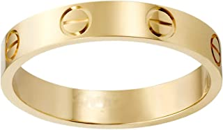Youte Gold Love Rings with Titanium Stainless Steel Best Gifts for Love