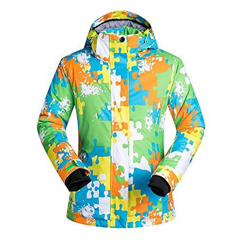BGROESTWB Traje de esquí para hombre, impermeable, abrigos de montaña con chaqueta de invierno engrosada (color: amarillo, tamaño: XL)