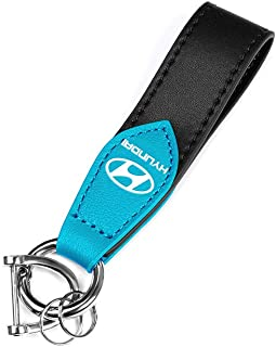 JinangSales For Hyundai Key Chain Leather Chain Car Logo Key Chains for Men and Women Car Accessories Keyring
