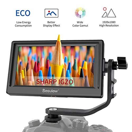 Desview Mavo P5 Kamera Monitor 5,5 Zoll DSLR On Camera Field Monitor mit Sharp IGZO LCD Bildschirm 1920x1080 4K Externer Feldmonitor HDMI-Eingang für Canon Nikon Panasonic Sony