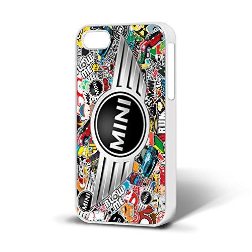 Mini Cooper distintivo sticker Bomb Phone custodia Fits iPhone 5–5S free P & P, WHITE CASE, iPhone 5-5S