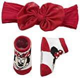 Disney Baby Girls Minnie Mouse Headband Set, red bow, One-Size