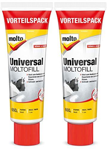 Molto Universal Moltofill Fertigspachtel für den Innen- und Außenbereich 2x 660g
