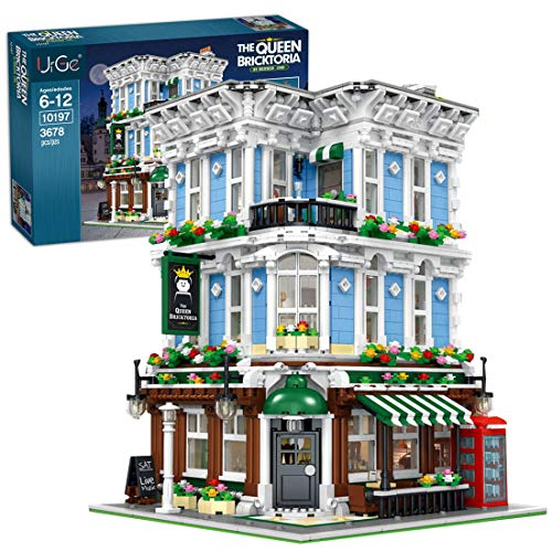 ReallyPow Haus, Bar Modular Haus Street View, Reihenhaus Modulares Gebäude Kompatibel mit Lego Creator - 3678 Teile