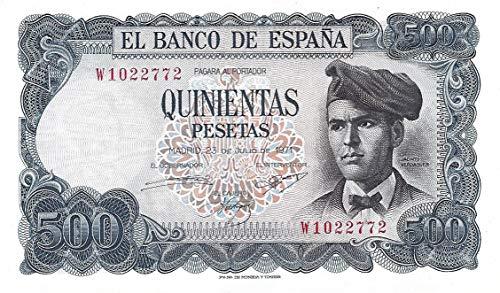 ESPAÑA, Billete Original de 500 Pesetas de 1971 Jacinto Verdaguer