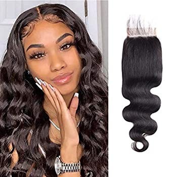 LianLian 4x6 Free Part Lace Closure Brazilian Virgin Body Wave Human Hair Pre Plucked Lace Closure Front With Baby Hair Unprocessed Virgin Human Hair 150% Density