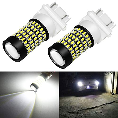 Phinlion 3157 LED Bulb White Super Bright 2800 Lumens 3014 103-SMD 3056 3057 3457 3757 4157 LED Bulbs with Projector for Back Up Reverse Brake Stop Tail Lights, 6000K Xenon White 1995 95 Ford Explorer Tail