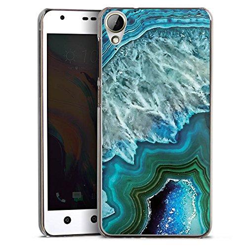 HTC Desire 10 Lifestyle Hülle Case Handyhülle Kristall Edelstein Blau
