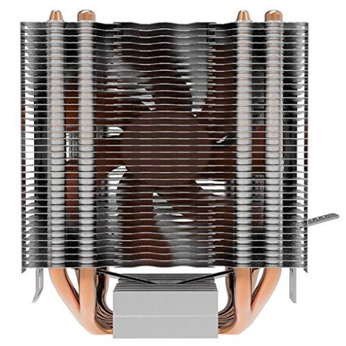 Kesilian Reemplazo para Intel LGA 1150/1151/1155/775/1156 / AM4 4 heatpipe CPU Cooler disipador de Calor 9 cm
