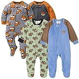 Gerber Baby-Jungen 4-Pack Blanket Sleeper Kleinkind, Schlafsack, Fuchsbär, 3-6 Monate