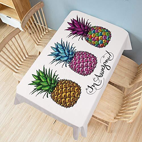 XXDD Tovaglia Stampata Ananas Tovaglia Rettangolare per Banchetti Cuscino per Vestiti Decorazione Domestica Impermeabile A5 140x140cm