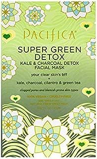 Pacifica Super Green Detox Kale & Charcoal Facial Mask, 12Count