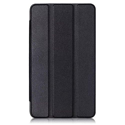 Kepuch Custer Huawei Mediapad T1 7.0 / T2 7.0 Hülle - Shell Schutzhülle PU Tasche Smart Case Cover für Huawei Mediapad T1 7.0 / T2 7.0 - Schwarz - 3