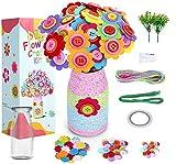 R H lifestyle DIY Felt Flower Button Vase Making Craft Kit for Kids Learning